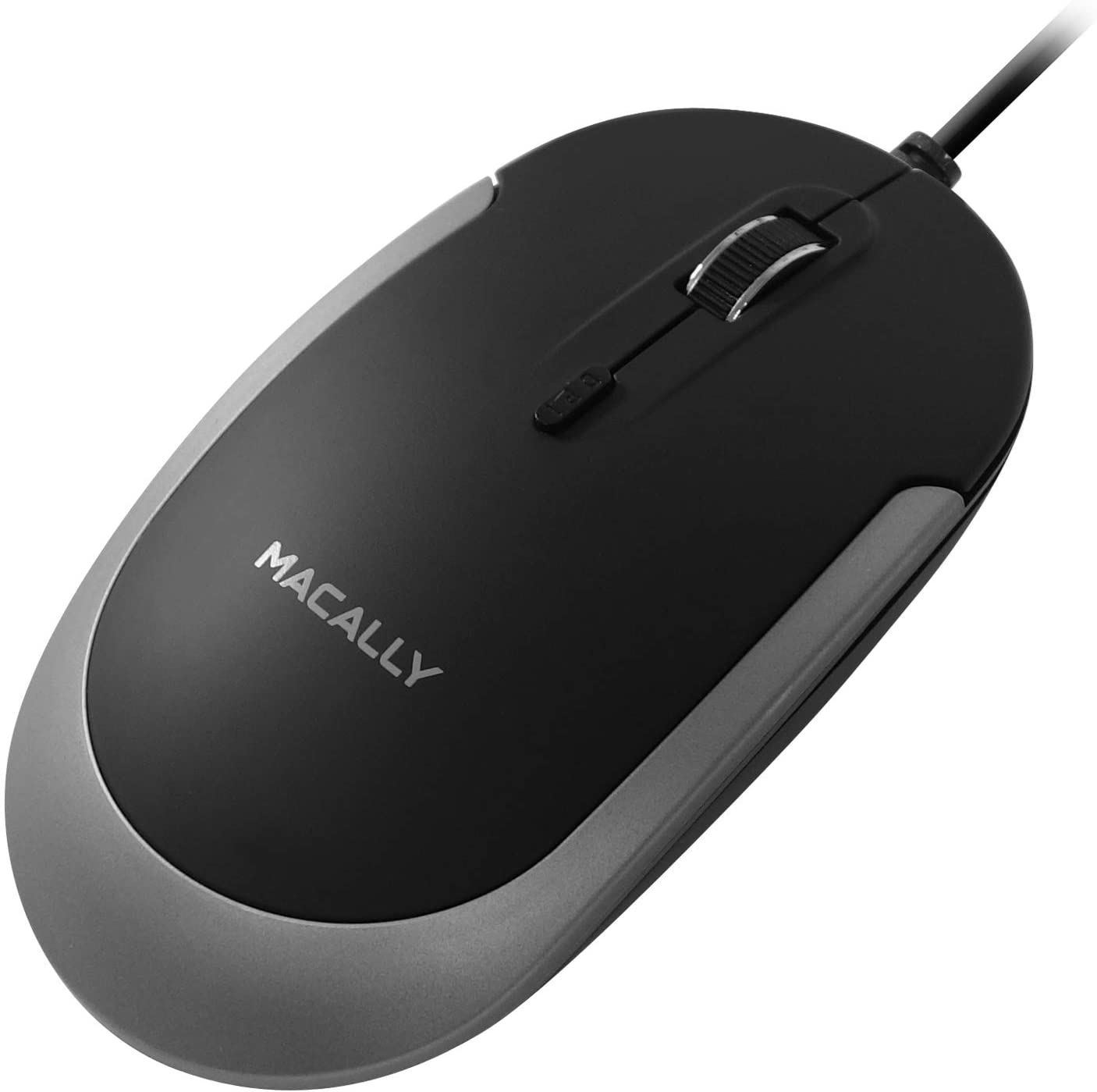 Picture of Macally USB-C Optical Silent Mouse - Black