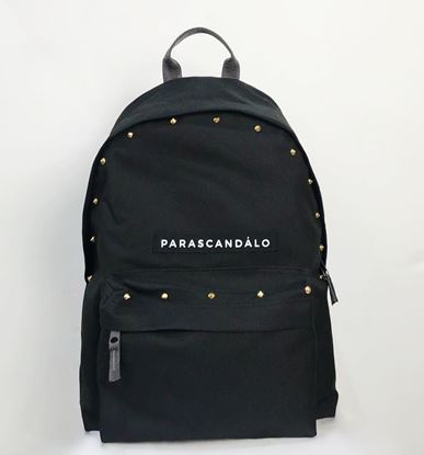 Picture of Parascandalo Logo Studded Mini Backpack in Black