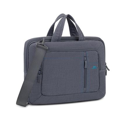 "Picture of RivaCase 7520 Grey Canvas Laptop Bag 13.3""-14"""