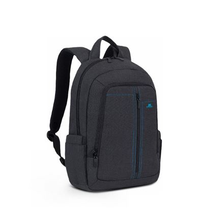 "Picture of RivaCase 7560 Laptop Canvas Backpack 15.6"" black"