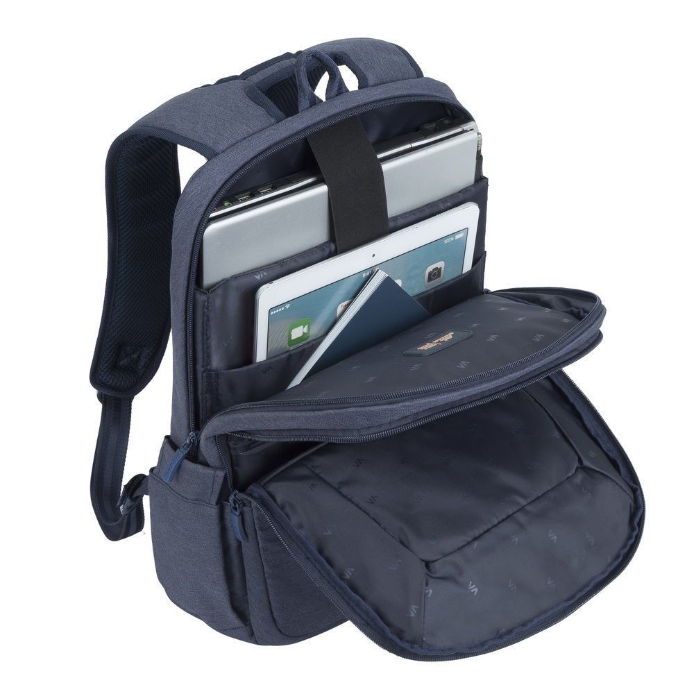 """Picture of RivaCase 7760 Laptop Backpack 15.6"""" - Blue"""